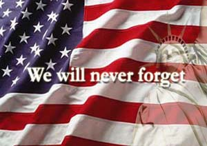 We will never forget flag
